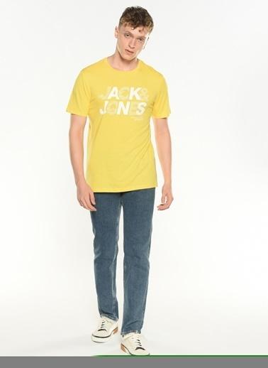 Jack & Jones Jack & Jones 12191974 Dusty Blue Erkek Tişört Renkli